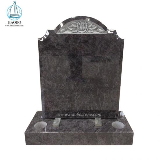 Bahama Blue Serp Top Headstone