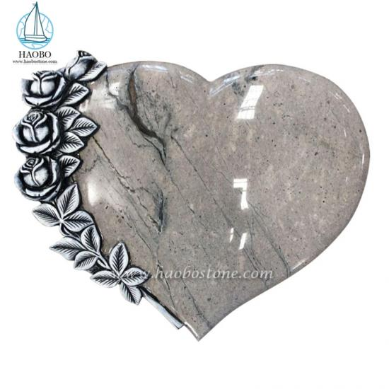 Granite Heart Shaped Gravestone