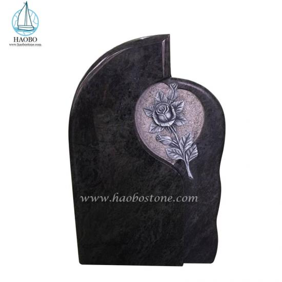 Bahama Blue Rose Carved Headstone