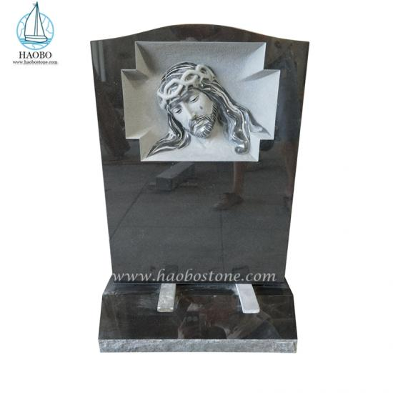 Weeping Jesus Engraved Memorial Headstone