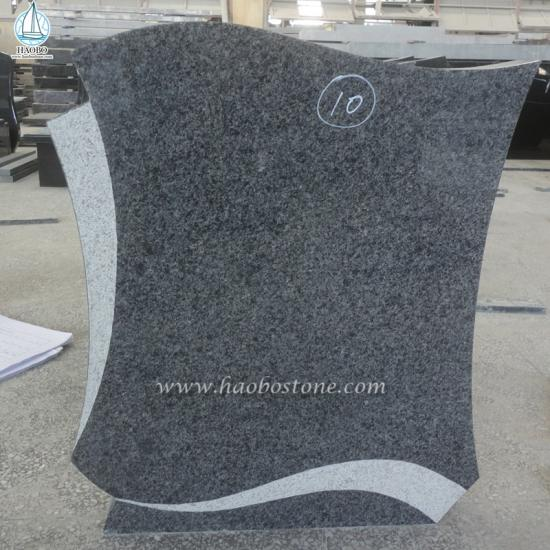 G654 Granite Angel Tombstone