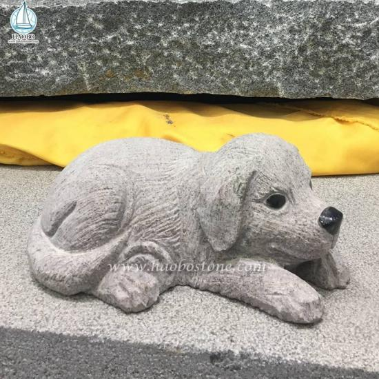 Granite Garden Puppy Carving
