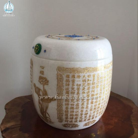 Jade Stone Carved Urn