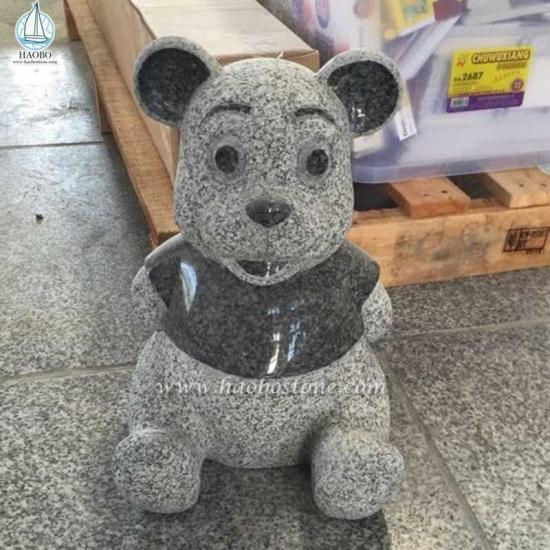 Granite Animal Panda Carving