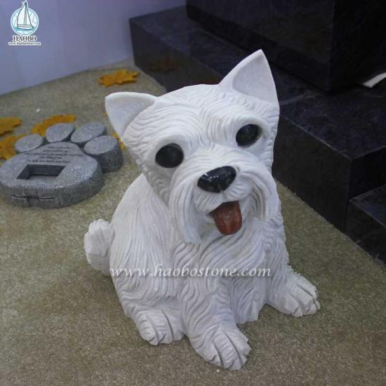 Granite Animal Dog Carving