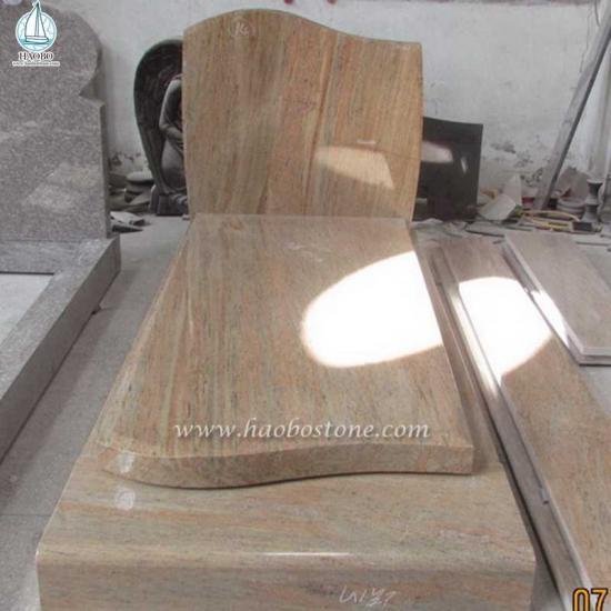 Raw Silk Gravestone for Cremation