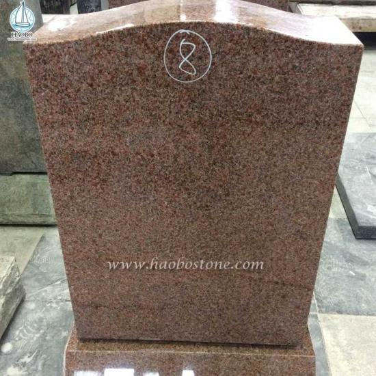 Imperial Pink Red Granite Gravestone