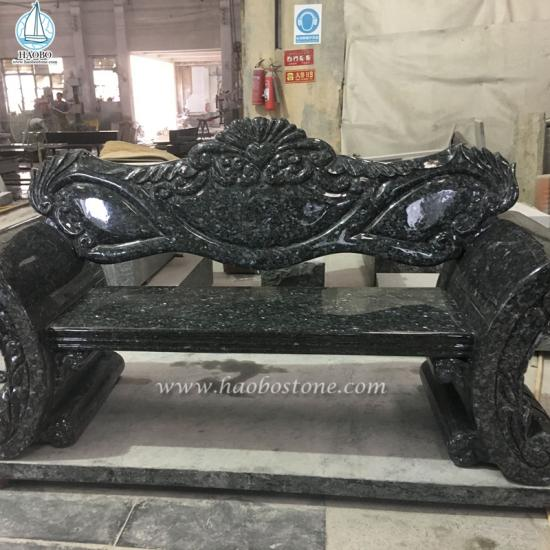 Blue Pearl Granite Monument Bench
