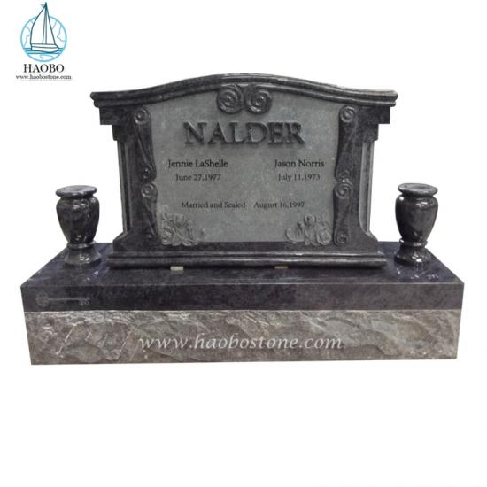 Bahama Blue Rose Carved Tombstone