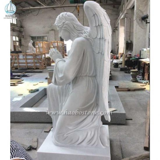 White Marble Prayer Angel Statue