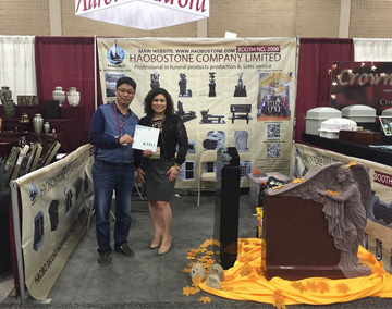 Haobo Stone attended ICCFA Funeral exhibition in USA in 2015